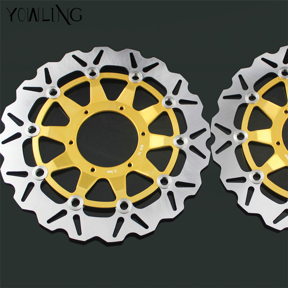 2 Pcs Motorcycle Front Floating Brake Disc Rotor For Honda CBR1000RR CBR1000 2006 2007 2008 2009 2010 2011 12 CBR 1000 RR 1000RR arashi motorcycle radiator grille protective cover grill guard protector for 2008 2009 2010 2011 honda cbr1000rr cbr 1000 rr