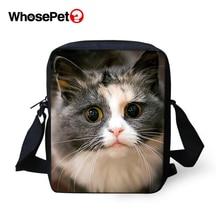 WHOSEPET Women Messenger Bags Cartoon Small Cats Animal Cross Body Shoulder Cool Girls School Lady Mini Flap Postbags