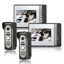 Wired Videoportero Con Cable Timbre de Intercomunicación IR Cámara de Vídeo Portero Automático SYSD dos a dos de vídeo Portero Automático Con función de bloqueo