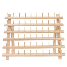 High Quality 60 Spools BeechWood Folded Mini Sewing Embroidery Thread Stand Holder Rack Storage Sewing Accessories