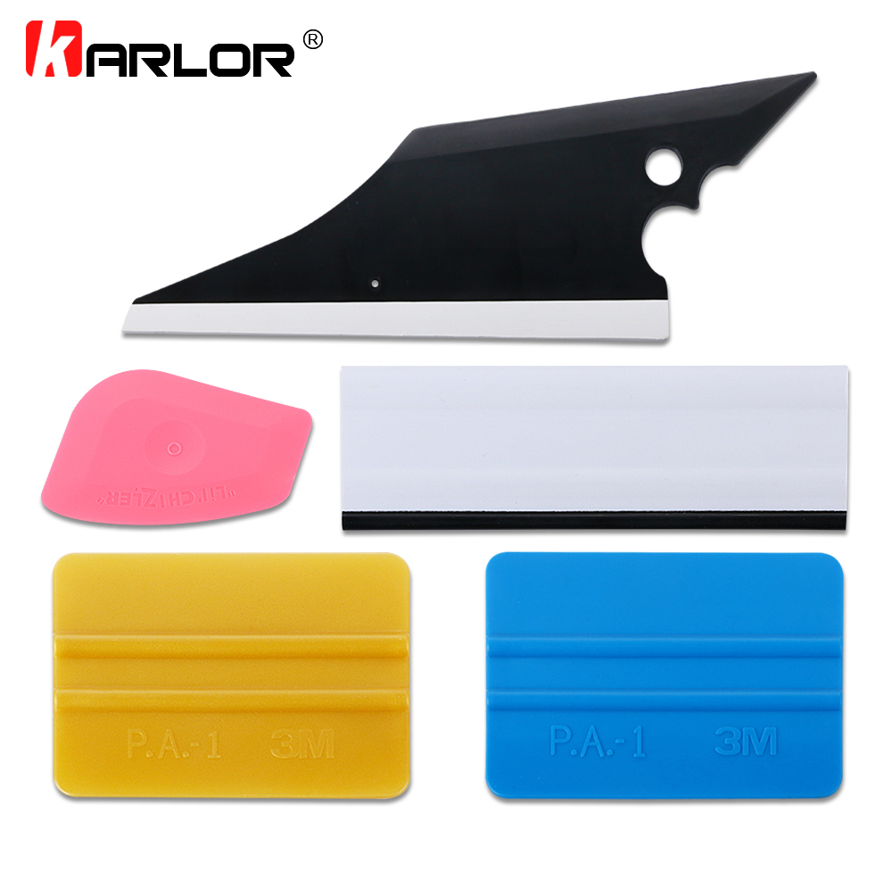 5Pcs Car Squeegees Vinyl Film Wrap Tools Kits Window Tints Tools Scraper Vehicle Windshield Wiper Tool Set Auto Car Accessories