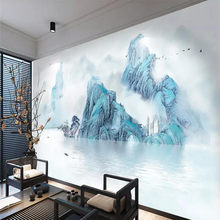 Italian ink landscape living room TV background wall professional production murals wholesale wallpaper custom poster photo wall(China)