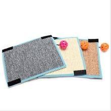 Scratching Board Mat Pad Katt Sisal Loop Carpet Scratcher Inomhus Hem Möbler Bordstol Soffa Ben Protector Pet Toy
