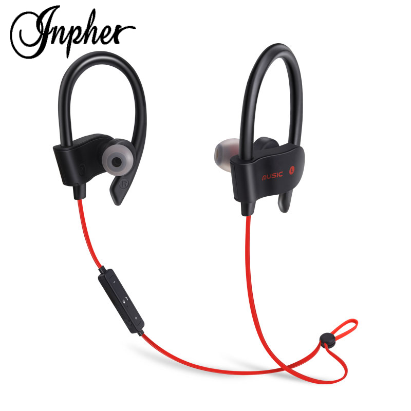 Inpher 56S sport wireless bluetooth earphone headphone for mobile phone headphones with microphone bass headset fone de ouvido awei ak7 wireless headphone bluetooth earphone for phone fone de ouvido sport headset cordless earpiece kulakl k headfone