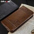 Dr. case luxo pu leather flip case para iphone 7 7 plus em relevo flores teste padrão de couro casos capa para iphone 7 7 plus com slots de cartão