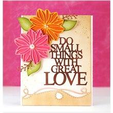 Love Words Metal Cutting Dies for Card Making