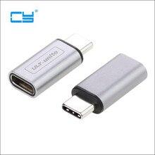 2017 Новый Тип серебристо-серый 10 Гбит/с стандартный металлический USB-C USB 3,1 Тип C мужского и женского пола переходник, конвертер USB3.1 Тип-c