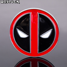 WesBuck Brand New Arrival Hot Selling Cool Red Fashion Deadpool belt buckle Causal Eagle Hebilla