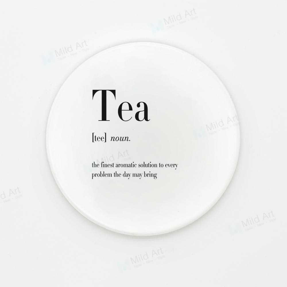 Coffee Tea Beer Food Ceramic Coasters Nordic Black and White ...