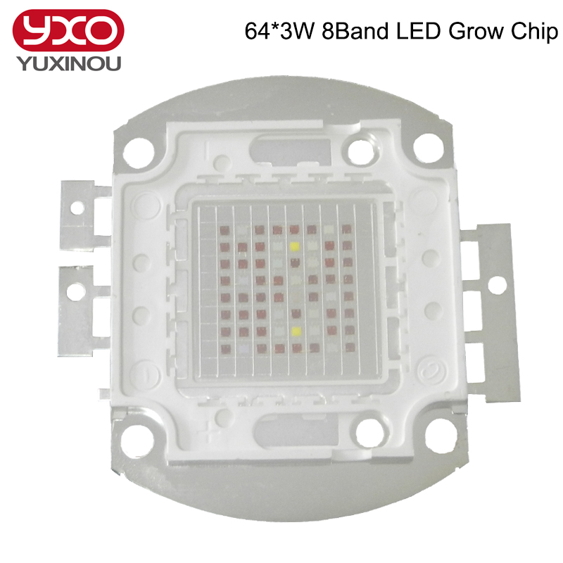 7 Band 8 Band 200w COB Led Grow Chip, full spectrum red blue UV IR White led plant grow chip ,2 Channel output for hydroponics , new 8 band 50w 100w 50 2w grow light led chip full spectrum led red blue uv ir white for indoor plant seeding growing flower