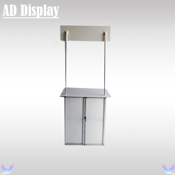 Portable Exhibition Case : Exhibition booth advertising foldable promotion table with middle