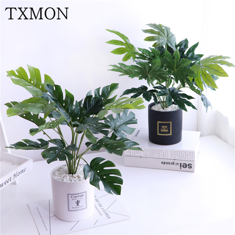 Simulation European green plant decoration living room large floor potted home indoor fake bonsai very simple