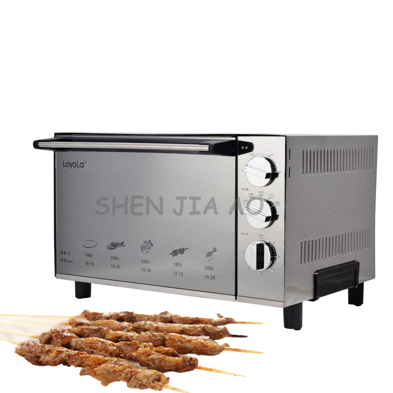 220V 1800W 1PC Stainless steel desktop electric oven 23L household small electric cake/pizza baking oven pfml nb400 stainless steel high temperature deck baking pizza oven machine for pizza shop
