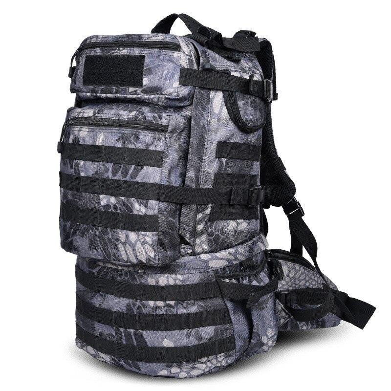 Nowy plecak o dużej pojemności plecak podróży wodoodporna torba kobiet wysokiej klasy 50 L rekreacji torba kamuflaż odpornym przed zniszczeniem torba w Plecaki od Bagaże i torby na  Grupa 1