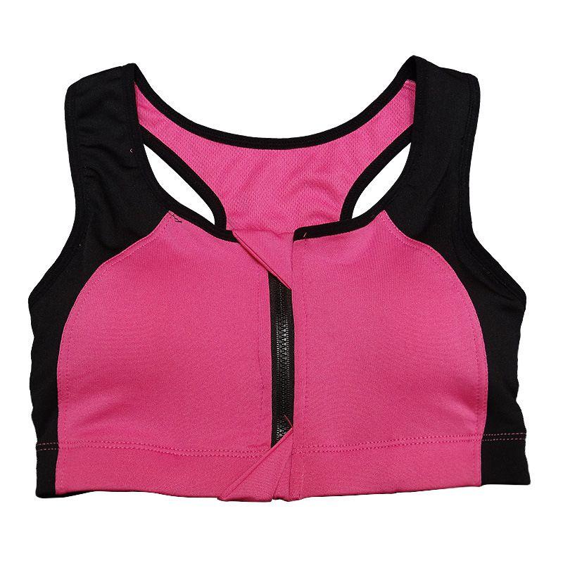 Women Fitness Gym Running Sports Bra Seamless Racerback Padded Push Up Bra Stretch Workout Tank Tops