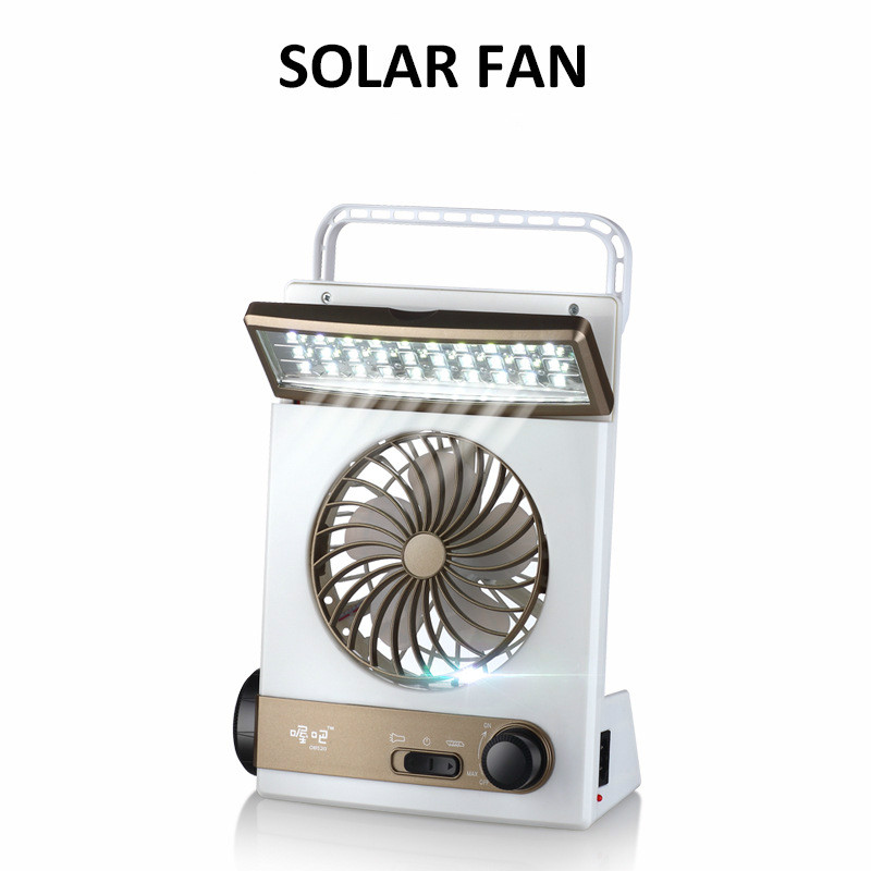 Useful Multi-function Camping Light Solar Tent Light With Fan Emergency Light