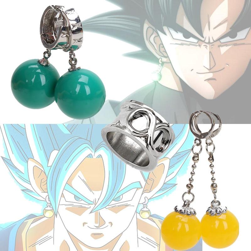 Dragonball Super Dragon Ball Vegetto Potara Earring Black Son Goku Zamasu Time Ring Cosplay PVC Action Figure Toy