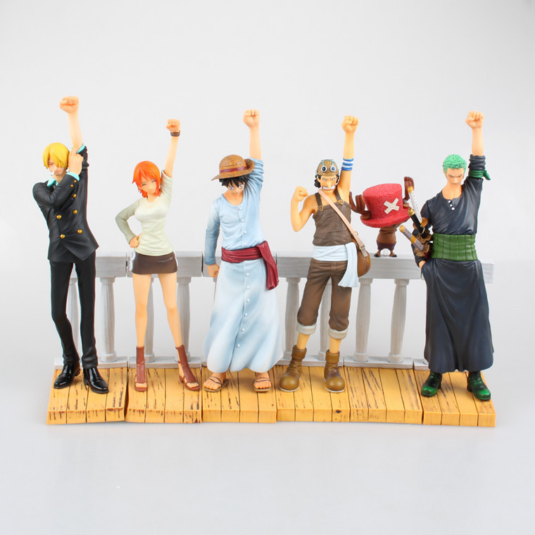 Free Shipping 6pcs One Piece Anime Alabasta Arc Luffy Zoro Nami Usopp Sanji Chopper Boxed PVC Figure Model Dolls Toy (6pcs set) anime one piece 6pcs set gear fourth luffy zoro franky sanji doflamingo pvc action figure collectible model toy 7cm 8 5cm kt2384
