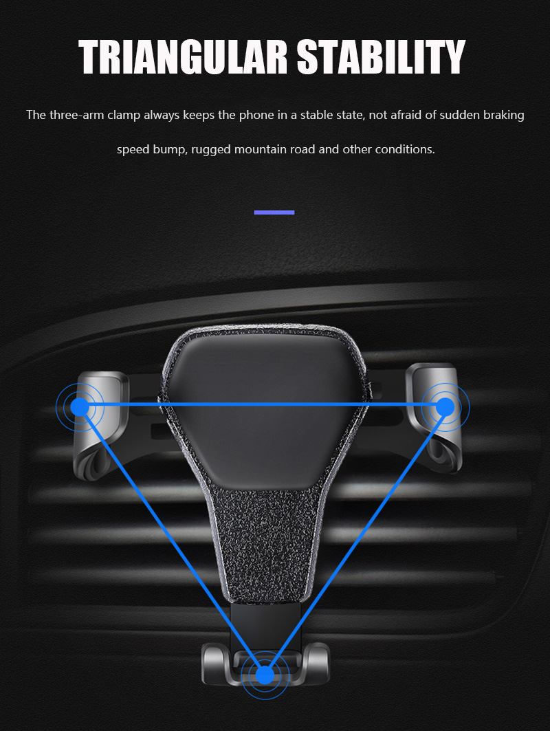 KCAR1017_10_Universal Car Phone Holder For Phone In Car Air Vent Mount Stand No Magnetic Mobile Holder Gravity Bracket for iPhone XS XR Huawei