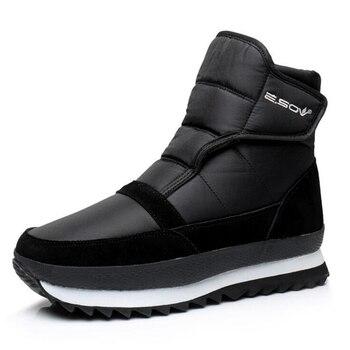 Mężczyźni buty zimowe buty mężczyźni botki Wodoodporne antypoślizgowe ciepłe pluszowe płaskie mężczyźni śnieg buty bota masculina