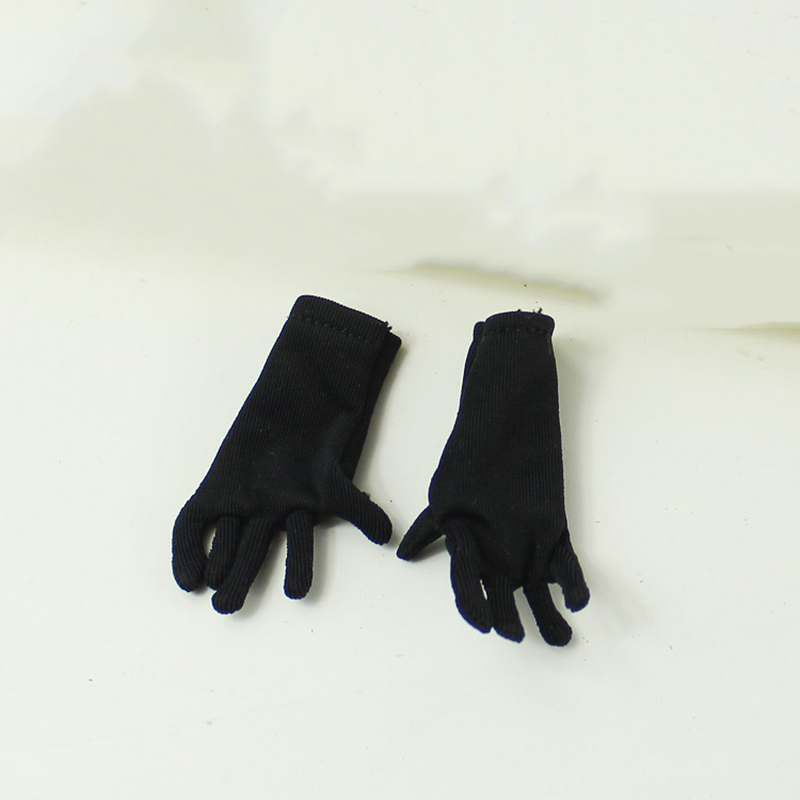1//6 Female Action Figure Clothes Black Swimwear Silk Stockings Gloves Accessory