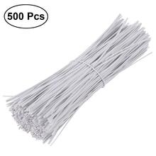 BESTOYARD 500 шт. 15 см Пластик покрытием Железная проволока перевязку кабель Обёрточная бумага Организатор Галстуки