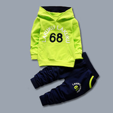 DIIMUU 2Pcs New Fashion Baby Boys Clothes Sets Hoodies Tops + Trousers Infants Kids Boy Outfits Suits Child Sports Clothing