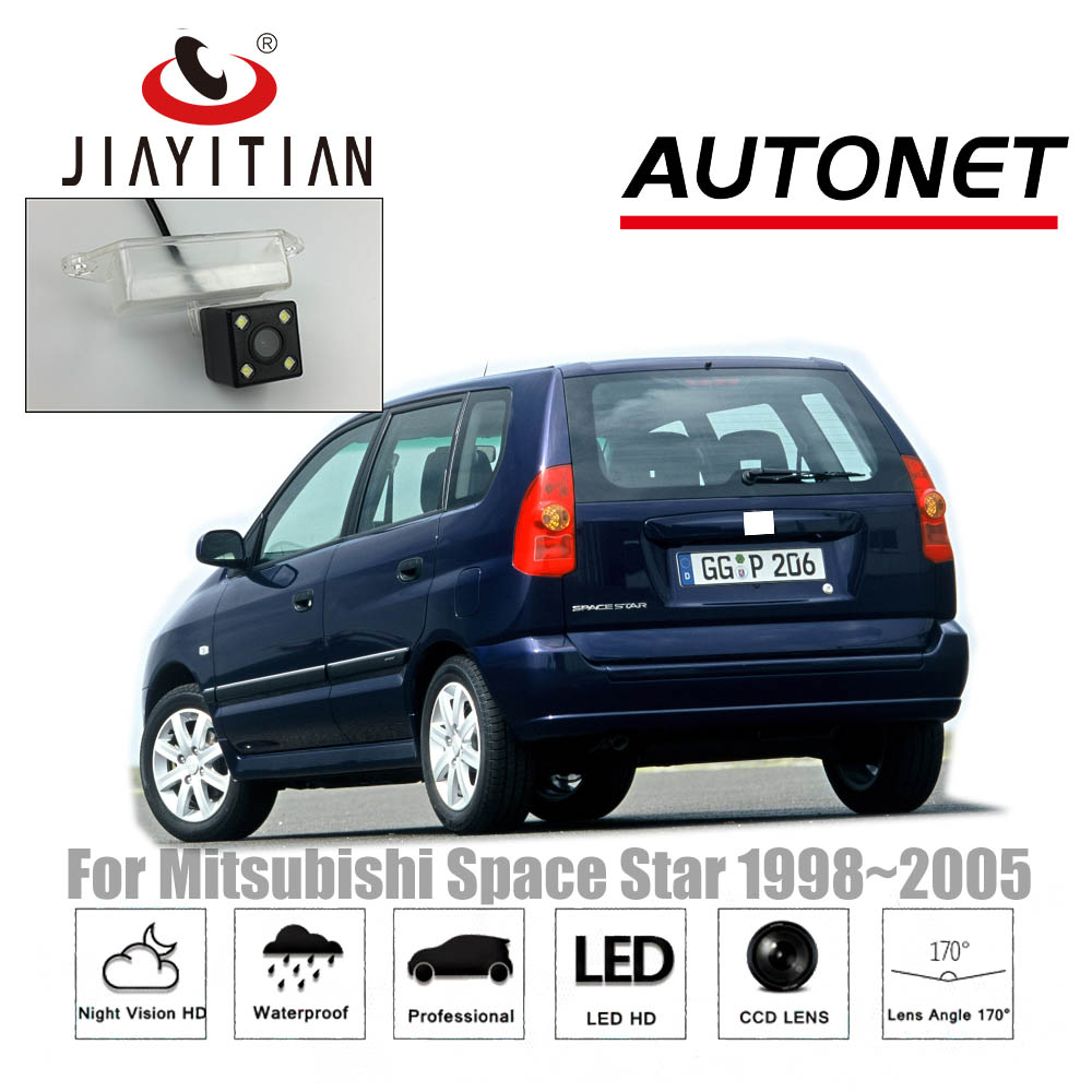 hight resolution of jiayitian rear camera for mitsubishi space star 1998 2003 2005 2004 ccd night vision backup camera