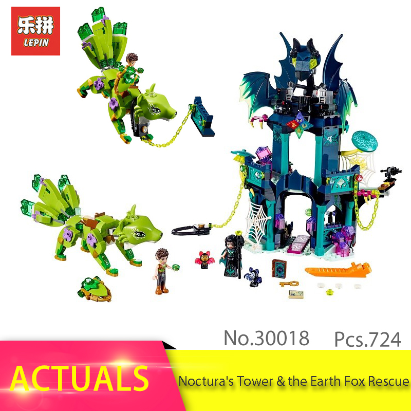 B&P 30018 Elves Series The Noctura's Tower & the Earth Fox Rescue Model LEPIN Building Block Brick Toys children Gift 41194 lepin 30017 505pcs elves series the aira