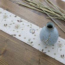 Nodic Flower Print Table Runner Flag Cotton Linen Solid Modern Luxury Tablecloth Tea Cover for Wedding Party Home Decor