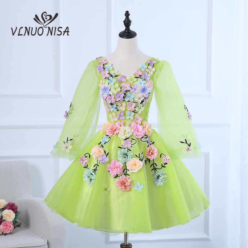 defabf13aec1b VLNUO NISA 2018 Cocktail Dresses for Wedding Lady Long Sleeve Summer ...