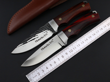 New HUIWILL Fixed Blade Straight Knife 9CR13S/S Blade Tactical Camping Hunting Survival Knife EDC Tools With Copper Mosaic Rivet