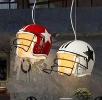 Pendant Light Lamp Bar Nordic Store Design Creative Modern Helmet Restaurant Clothing Resin Chandilier Coffee Shop
