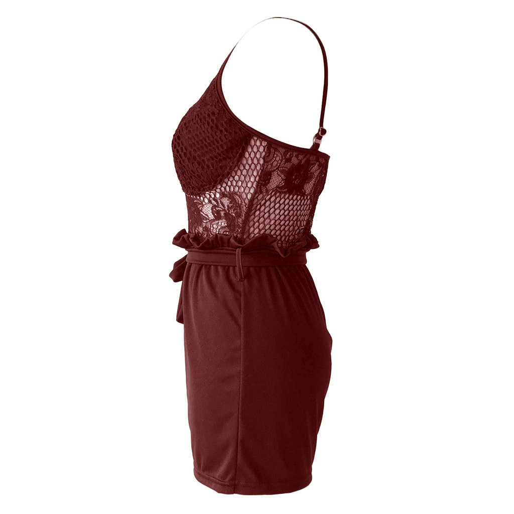 Новая одежда летние модные женские боди кружевные комбинезоны жилет танк Повседневный Топ комбинезон короткие брюки Комбинезоны женские s комбинезон