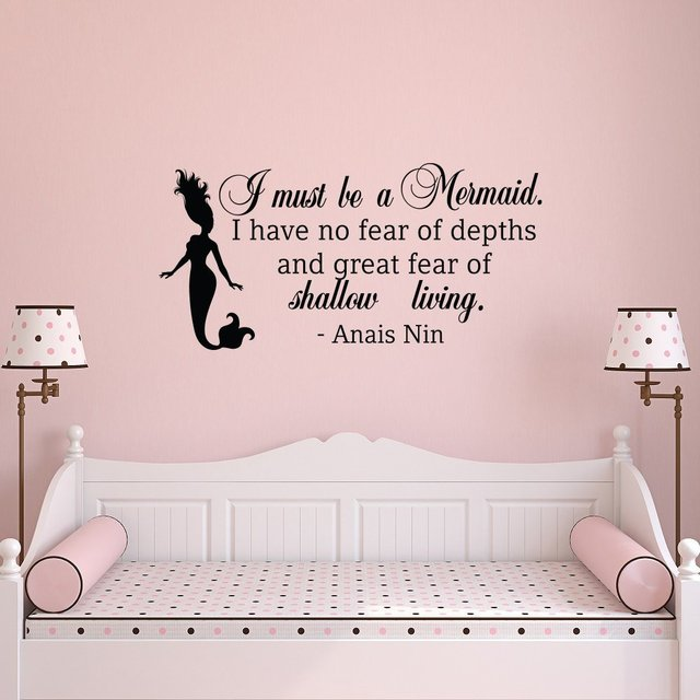 wall decal quote i must be a mermaid little mermaid wall decals