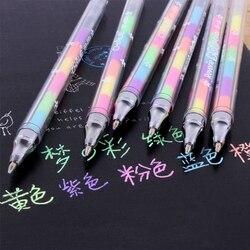 6 اللون في واحد القلم المائية السائل الطباشير القلم علامة تمييز للرسم DIY ألبوم صور بطاقات المعايدة مدرسة مكتب أدوات