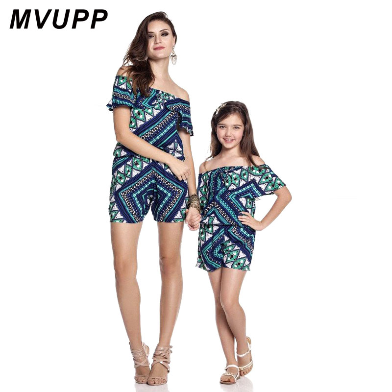 7e8be3ca9a8d mother daughter rompers family look jumpsuit off shoulder boat neck mommy  and me bodysuit matching outfits baby toddler clothes