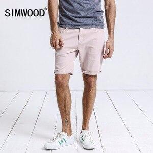 Image 2 - SIMWOOD offre spéciale 2020 été Shorts hommes genou longueur coton Shorts homme mode décontracté haute qualité mince marque vêtements 180073