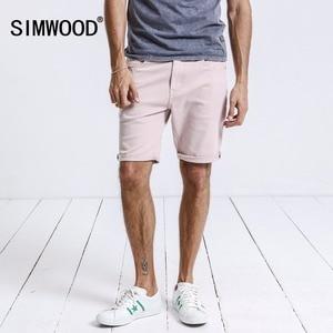 Image 2 - Шорты SIMWOOD мужские, летние, хлопковые, до колена, модные, повседневные, высокого качества, 180073
