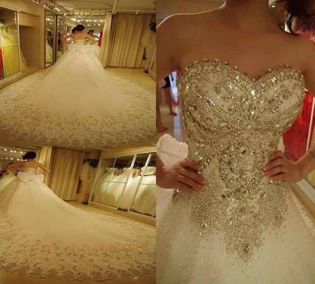 Vestidos de novia con cristales swarovski