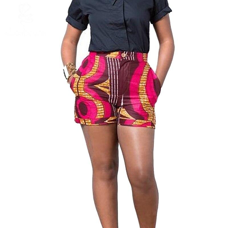 Africa Clothing 2017 summer women african Batik print pants african print short pants ankara 100%cotton plus size S-4XL