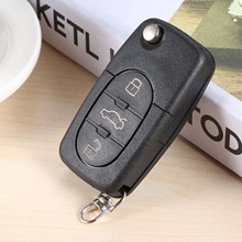 4DO837231A 3Buttons Remote Car Key Uncut Flip Remote Key 433MHz Fob ID48 Chip For Audi A3 A4 A8 Quattro A6 Allroad TT RS4 carbon cabin air filter for audi s6 s4 rs6 a6 a4 rs4 4 2 allroad quattro a6 a4 quattro car styling accessories oe 8e0819439
