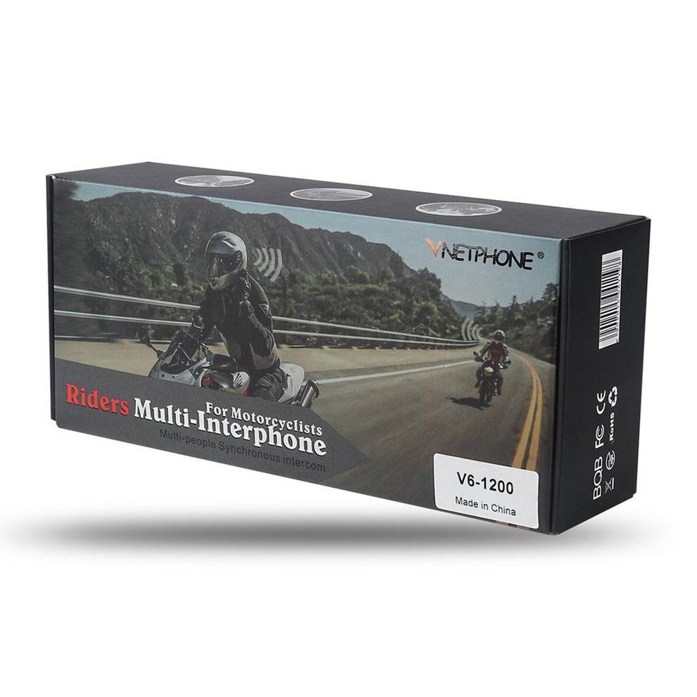 Vnetphone 800m Motorcycle Helmet Walkie Talkie Headset V6 Single Pack Durable Headset
