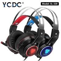 YCDC For IPhone Computer Stereo Gaming Headphones Best Casque Deep Bass Game Earphone Headset With Mic