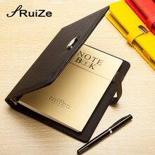 RuiZe модный кожаный спиральный блокнот-планировщик, ежедневник, B5, A5, A6, A7, кольцо, записная книжка, органайзер, канцелярские принадлежности, офисные принадлежности