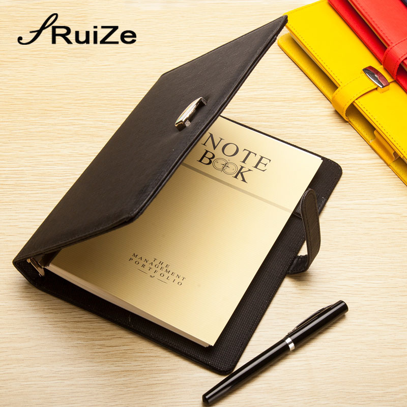 RuiZe 2017 Fashion Leather Spiral Notebook Planner Agenda