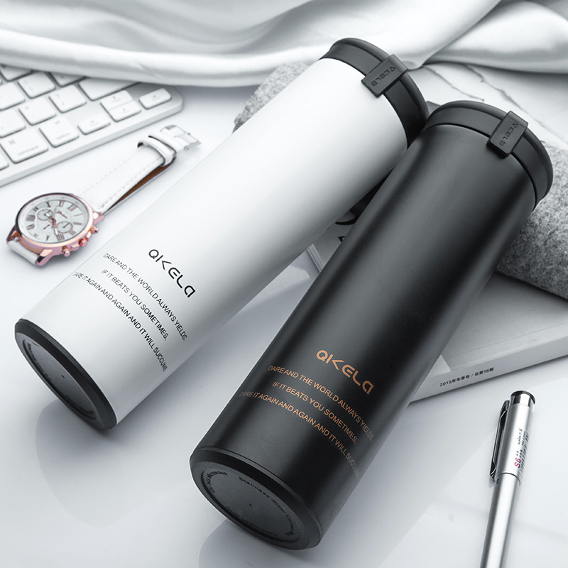 450ml Thermal Cup With Tea leaks Vacuum Flask Heat Water Tea Mug Thermos Coffee Mugs Insulated Stainless Steel Travel Cup