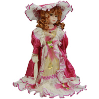 40 Cm Fashion Doll Gifts Lifelike Fantasy Style Ceramics Dolls With Red Dress For Girl Friend