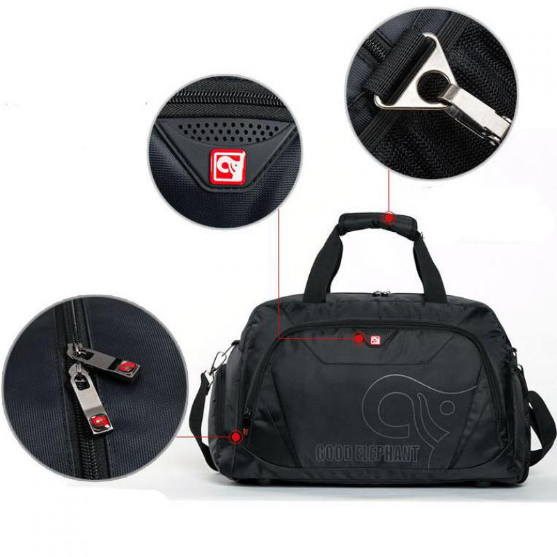 432ca43acbfb Quality Large Capacity Sports Gym Bag Men Women Fitness Bag Shoe Storage  Basketball Sport Bag Outdoor Travel Shoulder Bag HAB511-in Gym Bags from  Sports ...