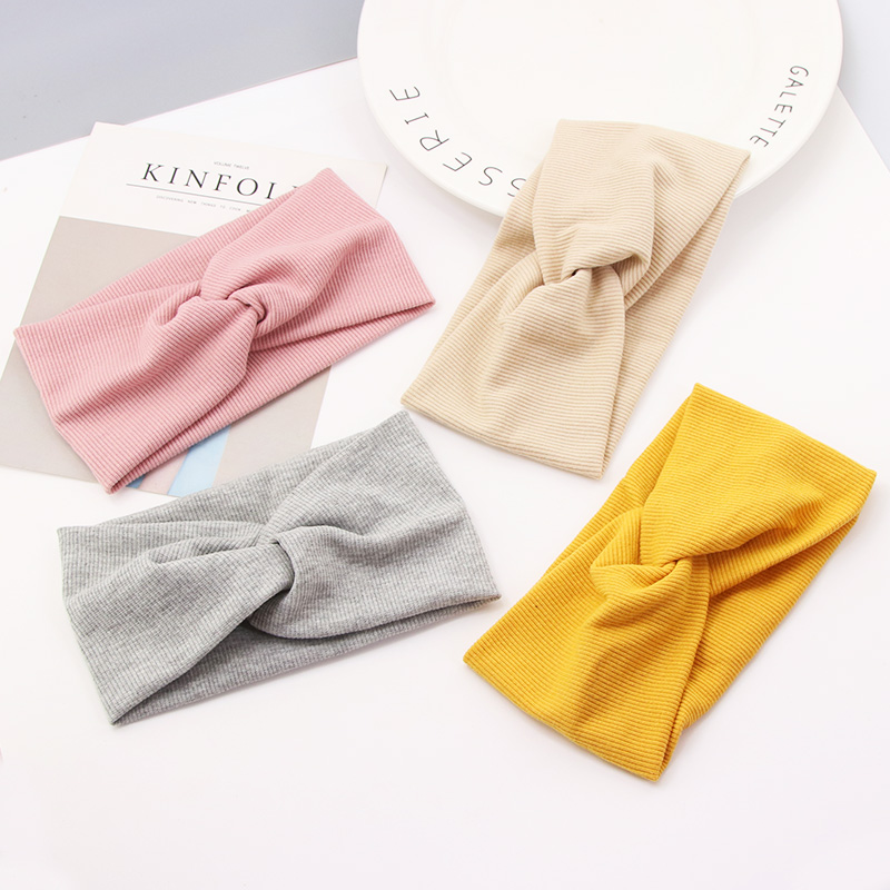 New Fashion Girls Colourful Cotton Knot Headbands Elastic Hairbands Childre Headwear Kids Stretch Headwraps Hair Accessories